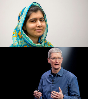 TIM COOK AND MALALA TOGETHER CHANGING LIVES