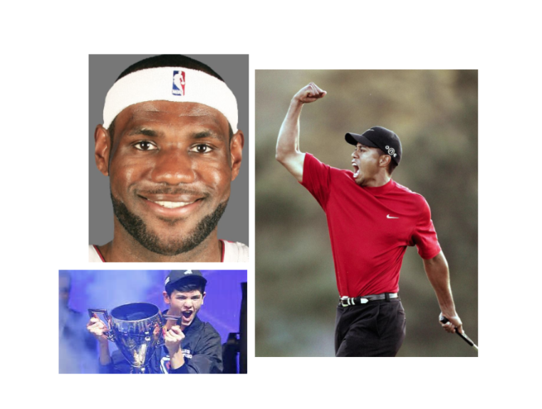 THE COMMONALITIES OF TIGER WOODS, LeBRON JAMES AND GAMER KYLE GIERSDORF